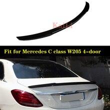 Real Carbon Fiber Rear Trunk spoiler Wing Trunk Spoiler Wing for Mercedes for Benz W205 C63 AMG 2015+ цена в Москве и Питере