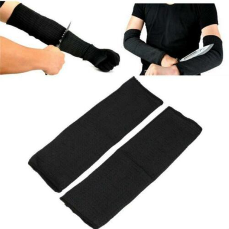 1Pair Sport Safety Sleeve Kevlar Sleeve Arm Protection Wrist Sleeve Armband Anti Abrasion Anti-Cut Burn Arm Resistant Oversleeve