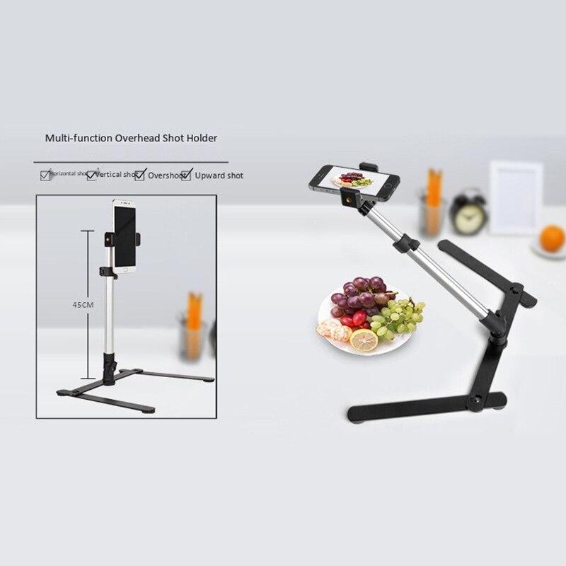 monopod + telefone clipe de luz de