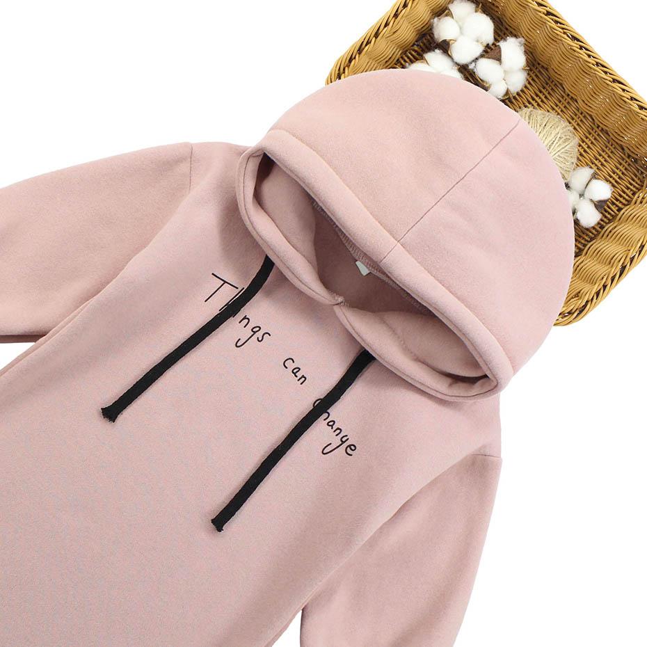 Image 3 - Dresses For Girls Letter Pattern Girls Dresses Hoodies Thick Warm Winter Dress For Girl Teenage Kids Costume 6 8 10 12 13 14Dresses   -