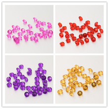 New 1000pcs 8mm Acrylic Clear Diamond Confetti Table Scatters Decoration Wedding Decoration