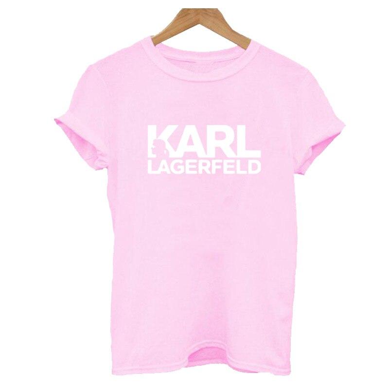 Karl Lagerfeld camisa de T das mulheres Unisex verão 2019 Vogue Manga Curta Camisas Engraçadas de T Harajuku Tumblr Karl Que Tshirt femme