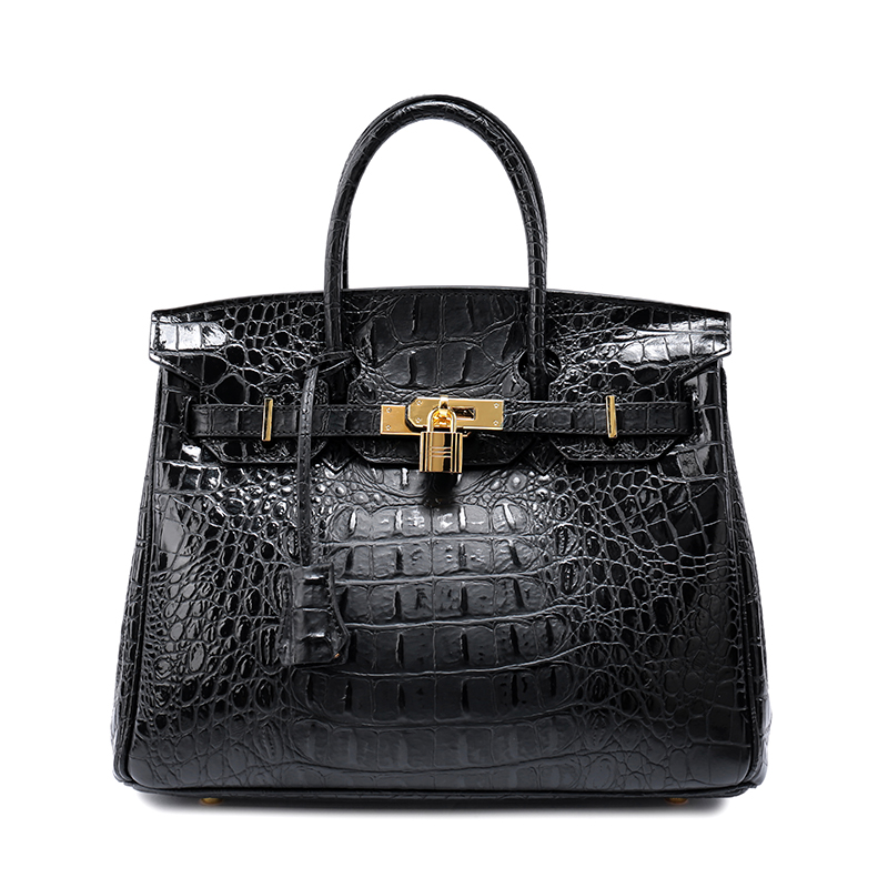 Classic Women's Fashion Genuine Leather Tote Bag Crocodile Pattern Office Handbag 247 classic leather