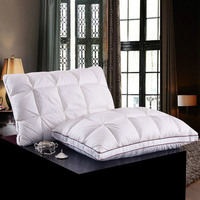 Top Quality 1 Piece White Duck Down Feather Pillows Rectangle Bedding Pillows 100 Cotton Down Proof