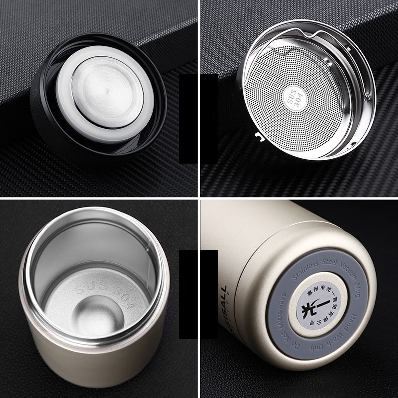 ONEISALL Stainless Steel Vacuum Flasks 400ml Insulated Thermose Bottle Coffee Mug Thermos Mug Tea Cup Thermal Coffee Mugs