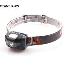 High quality 4 Mode headlamp Waterproof LED Headlight Flashlight white + red light Head lamp Torch light