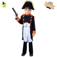 QLQ New Boys Napoleon Costumes Role Play Halloween Party Super Hero Kids Napoleon Costume For Boys Purim Holiday