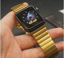 Diseño original brazalete de eslabones de acero inoxidable band + conector adaptador para apple watch 42mm hebilla de la correa para el iphone iwatch