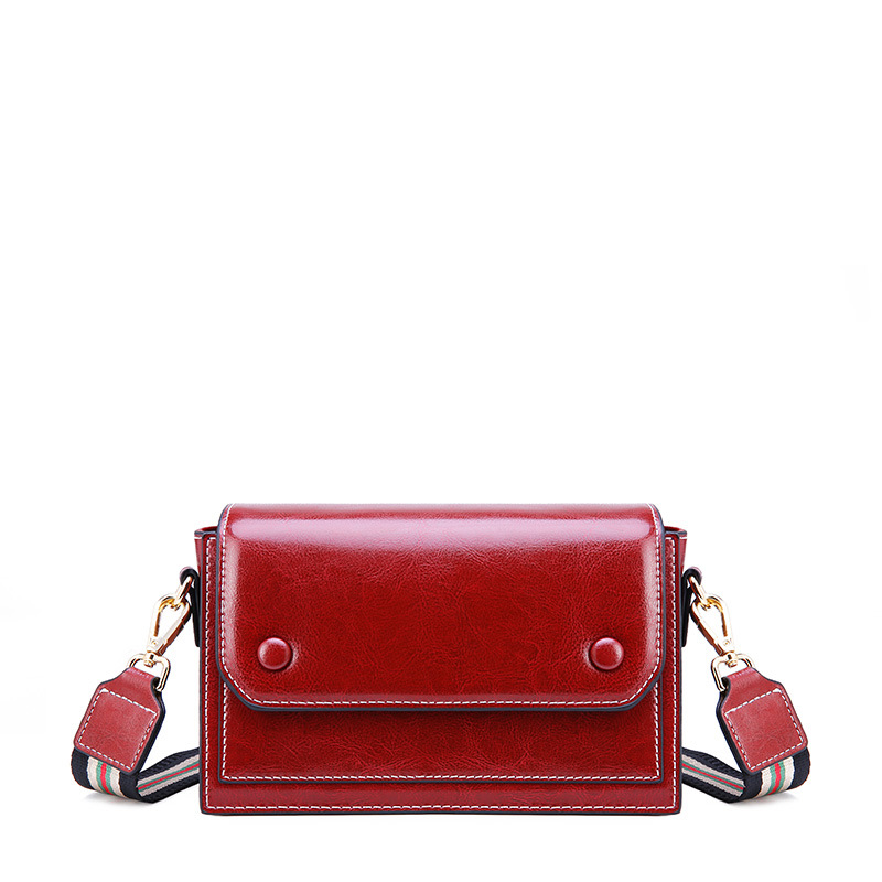 New fashion tide net red bean bean broadband shoulder bag ladies leather mini crossbody small square bag in Shoulder Bags from Luggage Bags
