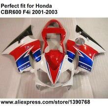 АБС-пластик Обтекатели для Honda красный синий белый CBR 600 f4i 01 02 03 комплект обтекателей CBR600F4i 2001 2002 2003 ol104