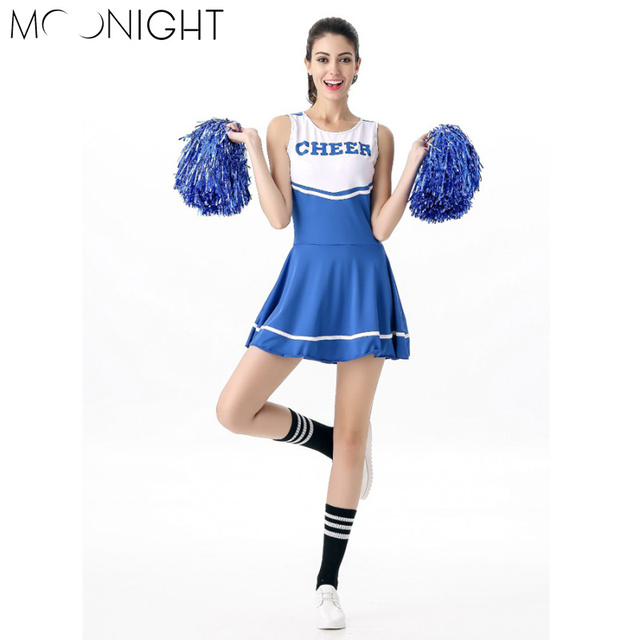 MOONIGHT 6 Color Sexy High School Cheerleader Costume Cheer Girls Uniform Party Outfit Fancy Dress  sc 1 st  AliExpress.com & MOONIGHT 6 Color Sexy High School Cheerleader Costume Cheer Girls ...
