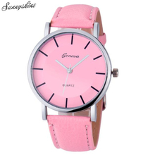 Hot Women Clock Lide PU Leather Band Analog Quartz Watches Girl Wrist Watch wholesaleF3