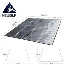 HEWOLF трехразмерный коврик для кемпинга, пикника, ультралегкий влагостойкий коврик для сна, алюминиевая пленка, коврик для пляжной палатки, подушка