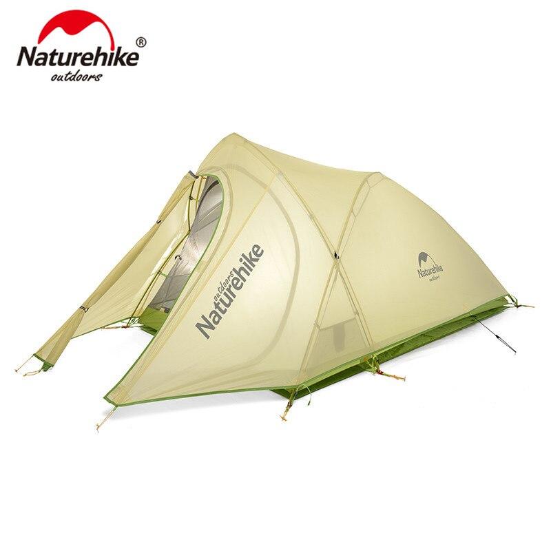 Cirrus Naturehike Ultraleve Barraca Pessoa 20D 2 Nylon com o Silício Revestido Barraca de Camping com Mat livre NH17T0071-T