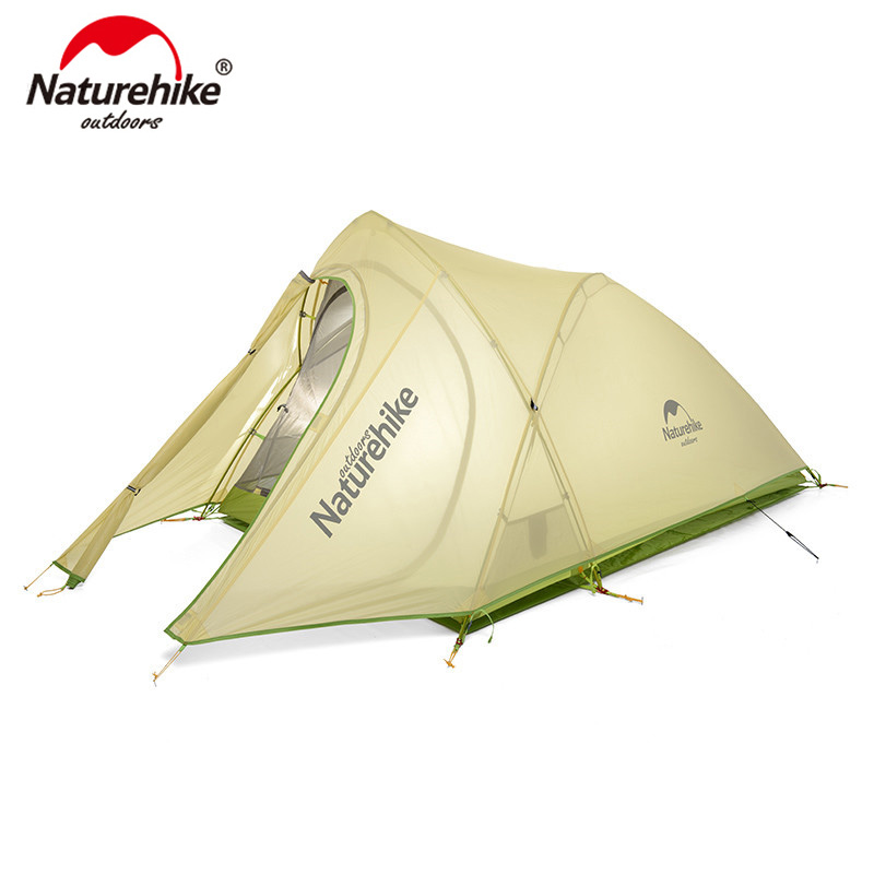 Naturehike Сверхлегкий тент cirрус 2 человека 20D нейлон с силиконовым покрытием палатка с бесплатным ковриком NH17T0071 T