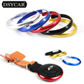 * DSYCAR 10Pcs/lot Surround Replacement Aluminum Car Styling For Mercedes Benz Smart Mini Cooper Key Fob Ring Rim Trim Covers