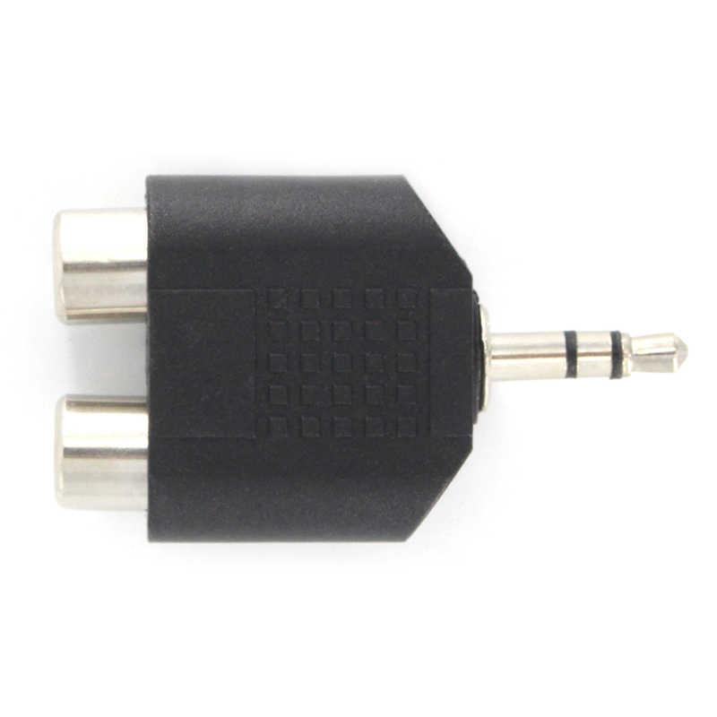 3,5 мм AUX штекер 2 RCA разъем Женский аудио адаптер для компьютера динамик наушники стерео разветвитель AUX разъем