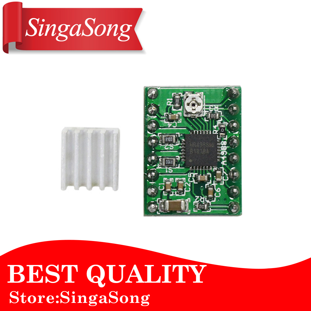Stepper Driver A4988 stepper motor driver + heat sink with sticker free shipping drop shipping free shipping 10pcs lot heat sink for a4988 a4983 stepper driver