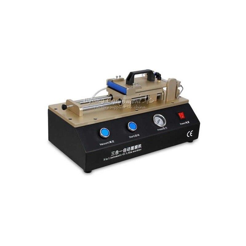 LCD repair tools LY 973 TBK Build-in pump Non-air compressor Semi-Auto Vacuum OCA film laminator semi auto lcd repair machine ly 948v 3 oca pack c for 7 inch free tax to europe
