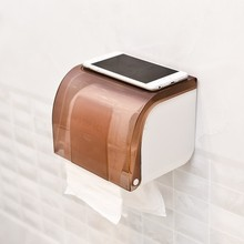 BF040 Home paste type waterproof paper towel box free toilet roll holder punch tissue 17*13*13.5cm
