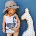 2017 самме Kikikids Бобо Выбирает Детские Летние Жилет Лебедь Печати Футболка Топы Мальчики Девочки Дети Малышей Одежда vestidos bebe