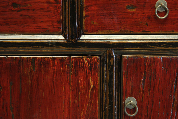 ... Red Black Surface Edge Paint Cupboard Door Honest Wood Imitation Ming  And Qing Antique Furniture Chinese ...