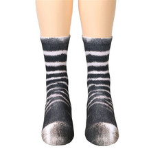 1bc1a4ff97c 6-12 Years Old Children Kids Animal Paw Crew Socks Sublimated Print Sexy  Thigh High