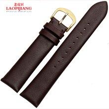 Laopijiang reloj accesorios por AR1376 correa de cuero con reloj para hombre negro 22 mm