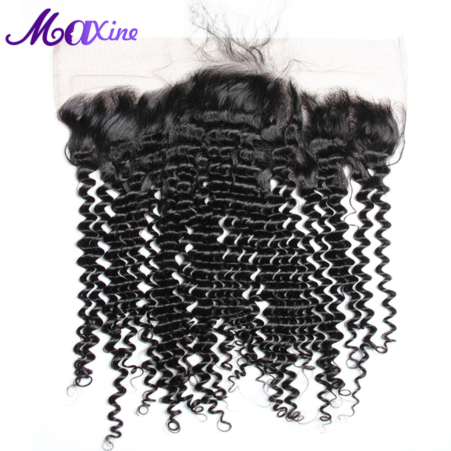 Maxine Hair Deep Curly 13x4 Ear to Ear Lace Frontal Closure With Baby Hair 8 20