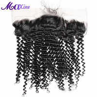 Maxine Hair Deep Curly 13x4 Ear to Ear Lace Frontal Closure With Baby Hair 8-20 Inches Natural Color Remy Human Hair Swiss Lace