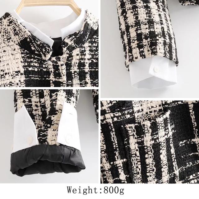 Bella Philosophy 2018 Spring Women Vintage Jacket Long Sleeve Plaid Loose Women Outwear Fashion Patchwork Casual Female Jacket
