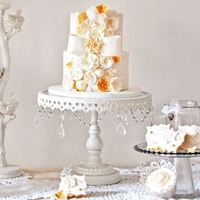 3pcs Lot Wedding Decoration White Crystal Cake Stands Metal Iron Cake Stands Cake Pan Fruit Plate