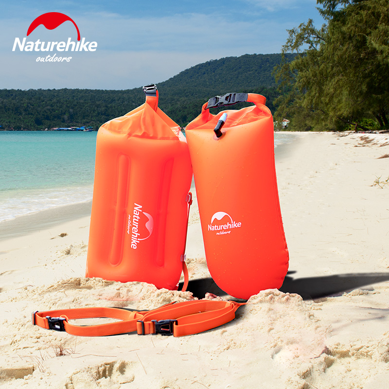 Brand Naturehike Safety Swimming Security Inflatable Float air float Airbag For Water Sea Snorkeling Pool Swim Handset bag