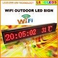 16x96 Пикселей P10 Открытый КРАСНЫЙ Ультра Яркость Wi-Fi Программируемый Светодиодный Знак/СВЕТОДИОДНЫЙ Дисплей Доска для Магазина