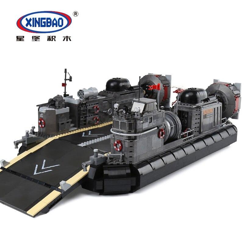 XINGBAO 06019 série militaire le navire de Transport amphibie mis Legoings blocs de construction Kits jouets comme garçons cadeaux de noël drôles