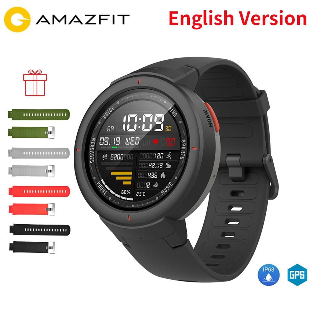 Bracelet de Film gratuit anglais Xiaomi Huami AMAZFIT Verge 3 montre intelligente GPS + Glonass IP68 étanche multi-sports Smartwatch répondre à l'appel