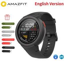 Бесплатная ремень фильм Английский Xiaomi Huami AMAZFIT Грани 3 Смарт-часы gps + ГЛОНАСС IP68 Водонепроницаемый мульти-спорта Smartwatch ответ на вызов