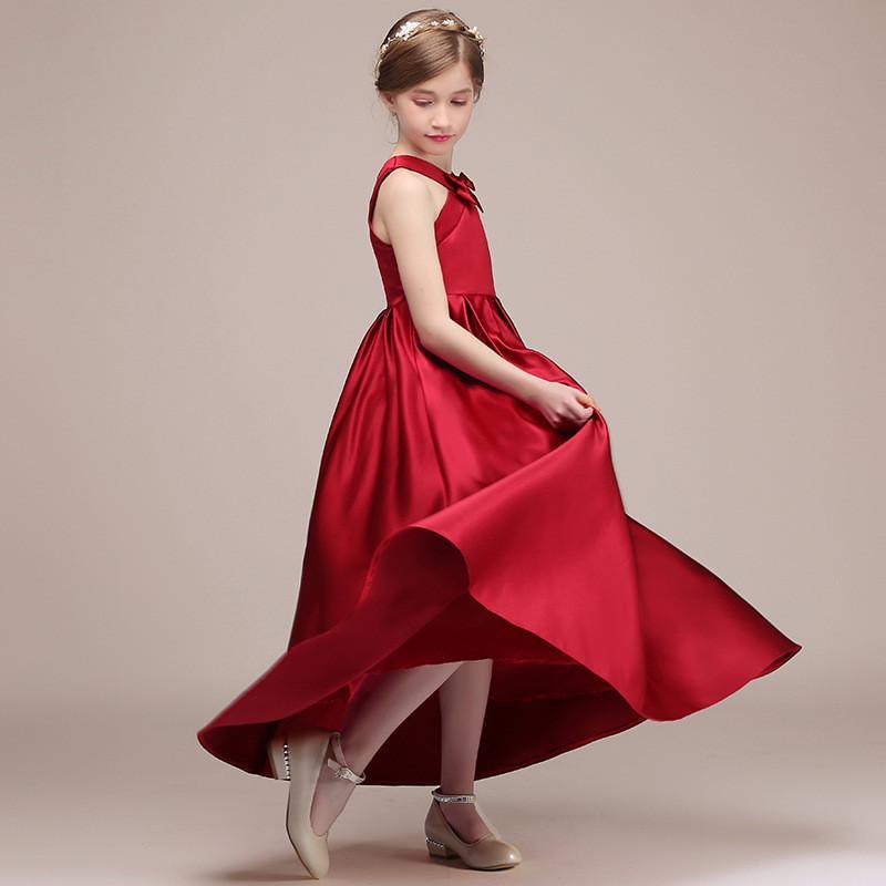 0b34de06443 ... Bowknot Princess Prom Gown Teen Girl Elegant Brief Formal Party Dress  Children. sku  32968215167