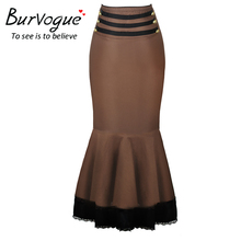 High Waist Bodycon Long Skirts Steampunk