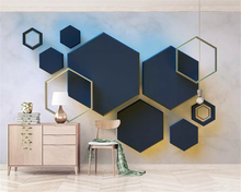 beibehang Custom size wall paper Solid geometric hexagonal classic modern mosaic TV background papel de parede 3d wallpaper