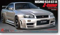 RealTS TAMIYA MODEL 1/24 SCALE civil models #24282 Nismo GT R(R34) Z TUNE plastic model kit