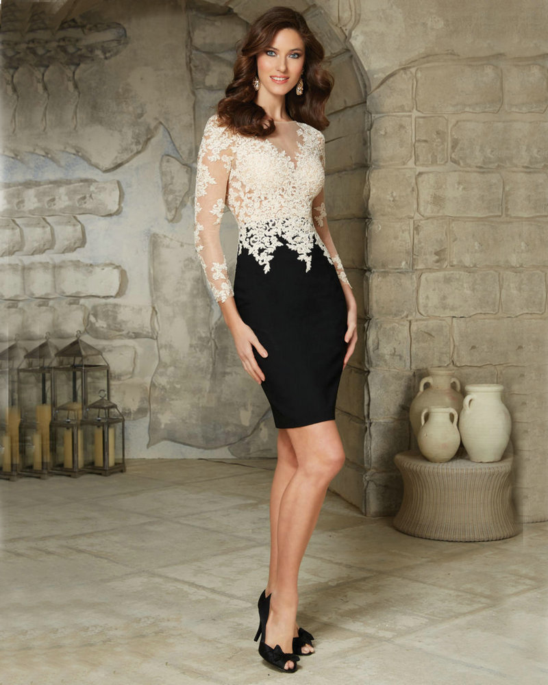 Aliexpress.com : Buy White and Black Mother of the Bride Dress ...