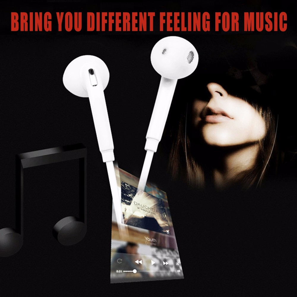 HENA S6 Earphone Stereo Earbuds In-Ear Headset With Mic microphone for MP3 MP4 Samsung Galaxy S6 S4 S3 S2 i9800 i9300 S6 Edge new guitar shape r9030 bluetooth stereo earphone in ear long standby headset headphone with microphone earbuds for smartphones