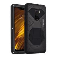 for Xiaomi POCOPHONE F1 POCO F1 Case aviation Aluminum alloy metal+Silica back cover for Xiaomi POCO F1 Phone cases