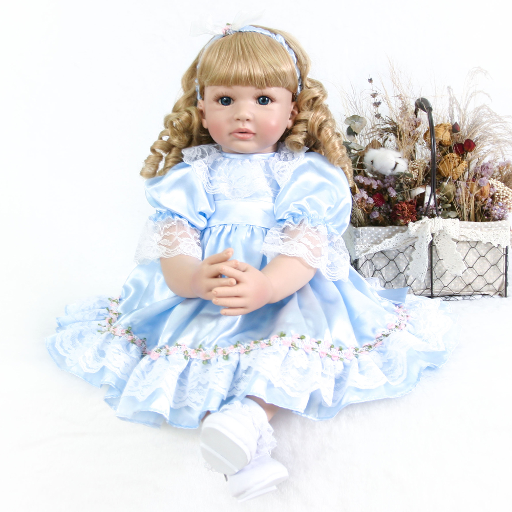 24 Inch Lifelike boneca bebe reborn Girl Doll Silicone vinyl + cloth body Realistic princess Baby Toy Ethnic Doll For Kids gift24 Inch Lifelike boneca bebe reborn Girl Doll Silicone vinyl + cloth body Realistic princess Baby Toy Ethnic Doll For Kids gift