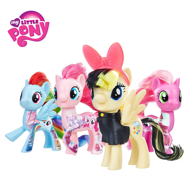 Hasbro My Little Pony Toys Friendship is Magic Rainbow Dash Pinkie Heartstring Rarity PVC Action Figure Collectible Model Doll