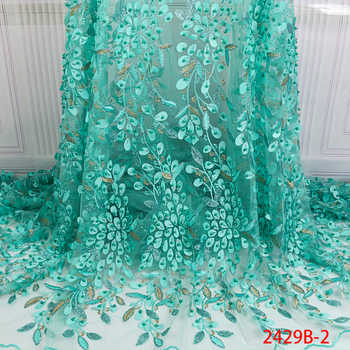 2019 New French Net Lace Fabric Latest African Tulle Lace Fabric with Beads Embroidery Lace Fabrics for Wedding Dress APW2429B - DISCOUNT ITEM  40% OFF All Category