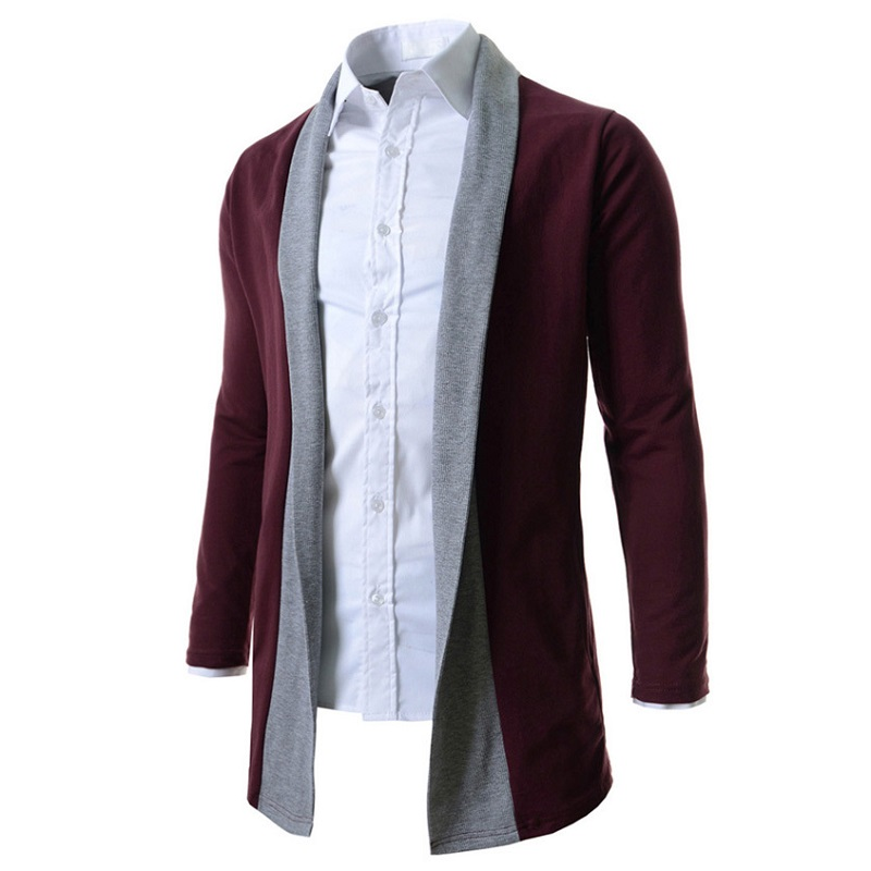 2016 New Brand Men's Sweaters Stitch Slim Fit Cardigan Men Casual Clothing Cardigan 2 Color Size:M-XXL Free Shipping