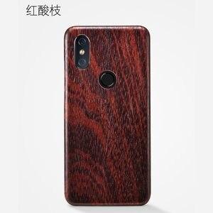 Image 4 - Caixa do telefone de madeira natural para xiao mi 8 caso capa de madeira de gelo preto, romã madeira, noz, rosewood para mi 8 pro