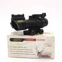 Riflescope 4x32 Compact Rifle Scope Fiber Sight Airsoft Sports For 20MM Rail Red Dot Sight Hunting
